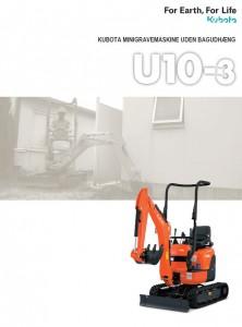 Kubota U10-3 minigraver 1,1 T brochure