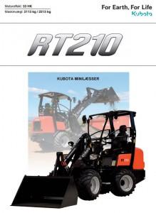 Kubota RT210 minilæsser brochure