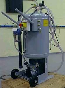 Vakuumenhed til spildolie / væske