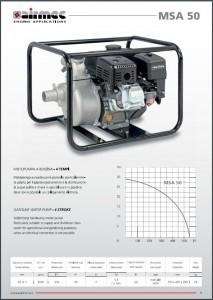 Selvansugende transportabel centrifugalpumpe brochure